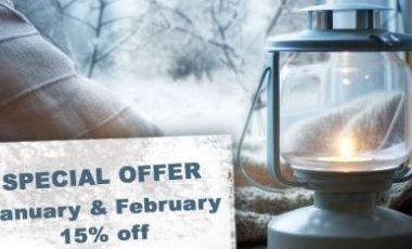 January&February 15% off