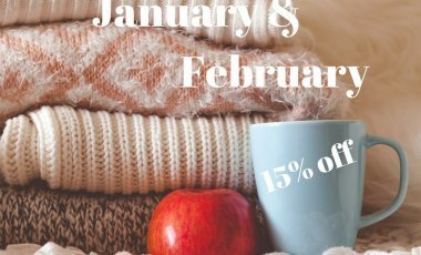 January&February 15% off