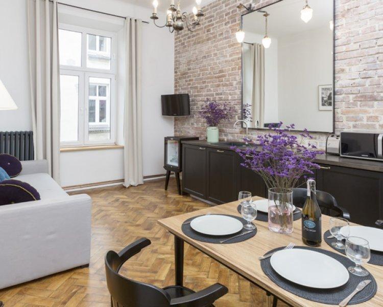 Apartament z 2 sypialniami (4+2 os.) - Plac Szczepański 2