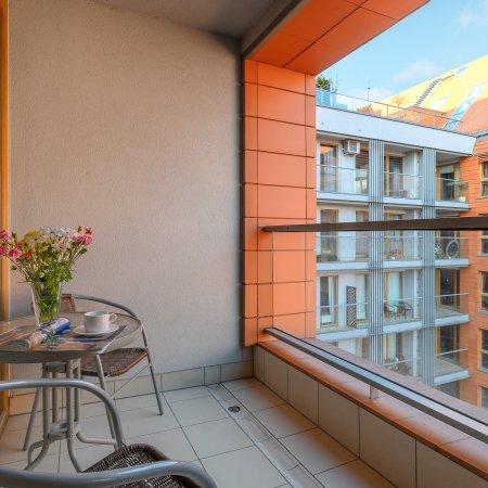 Apartament ul. Toruńska 15/124 B , Sypialnia + Balkon