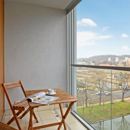Apartament ul. Toruńska 15/49, Sypialnia + Balkon