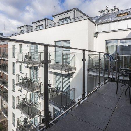 Apartament ul. Św. Barbary 12/39, Sypialnia + Balkon