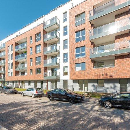 Apartament ul. Św. Barbary 11/61A, Sypialnia, Balkon