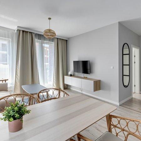 Apartament ul. Wałowa 25/52, Sypialnia + Salon