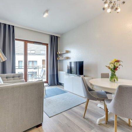 Nowa Motława SPA & Wellness - Apartament A35 - 1 Sypialnia + Salon, Balkon, Widok na Motławę