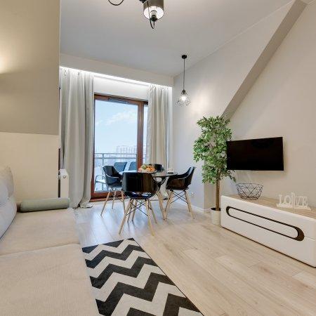 Nowa Motława SPA & Wellness - Apartament - A37, 1 Sypialnia+ Salon, Balkon, Widok na Motławę i Stare Miasto