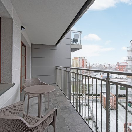 Nowa Motława SPA & Wellness - Apartament B64, 1 Sypialnia, Salkon, Widok na Motławę