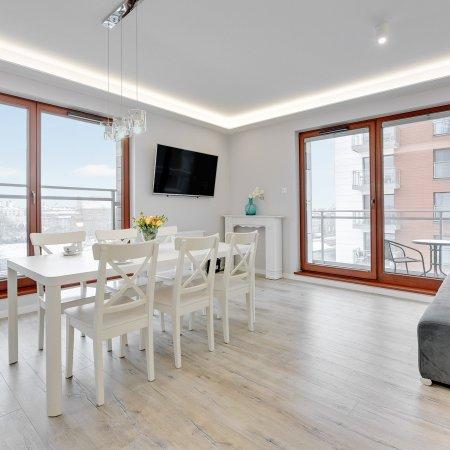 Nowa Motława SPA & Wellness - Apartament - D17/1, 2 Sypialnie, Balkon, Widok na Motławę