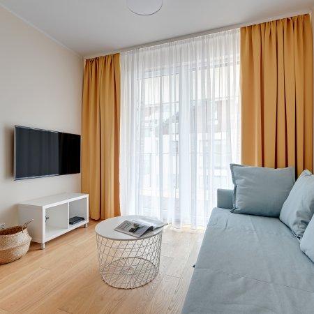 Apartament Jelitkowska 77/17, Sypialnia + Balkon