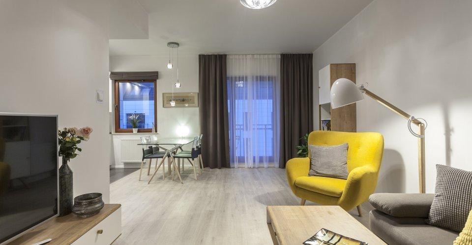 Apartment E48, 1 Bedroom, Balcony, View on the Motława River