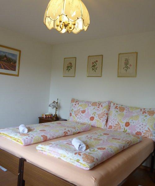 Doppel- oder Zweibettzimmer mit Gemeinschaftsbad