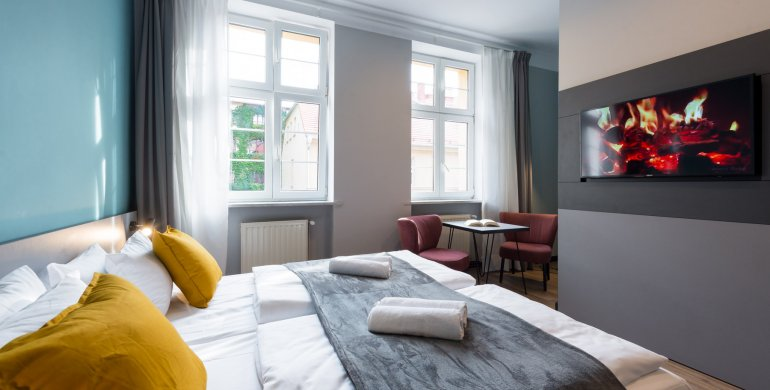 Pokój 2 os. - Standard z jednym dużym łóżkiem
