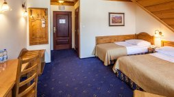 Double room with extra bed (double bed and single bed)