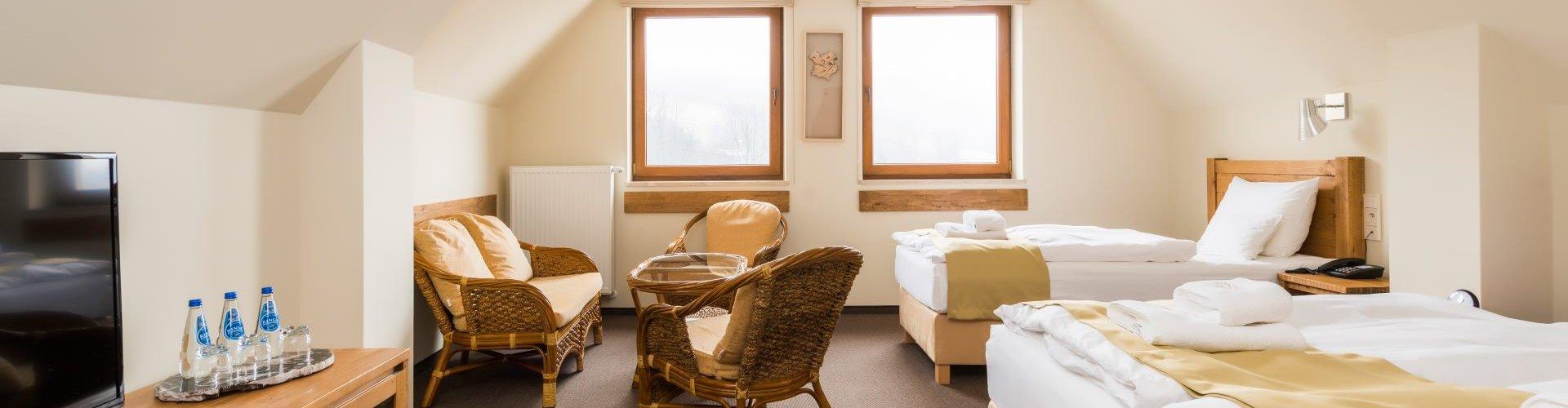 Pokój dwuosobowy Lux z dodatkowym łóżkiem
