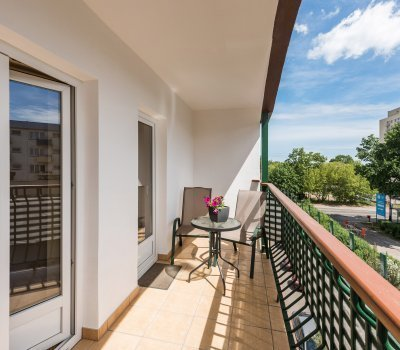 Muszelka 300 m od morza - Apartament z jedną sypialnią i balkonem