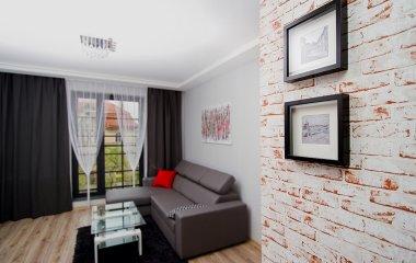 Apartament Standart z francuskim balkonem
