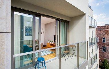 Apartament z sypialnią i balkonem