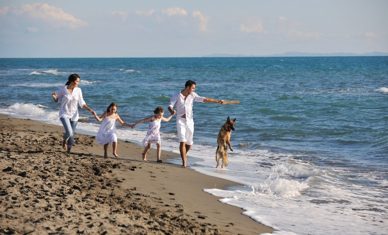 Family vacation by the sea