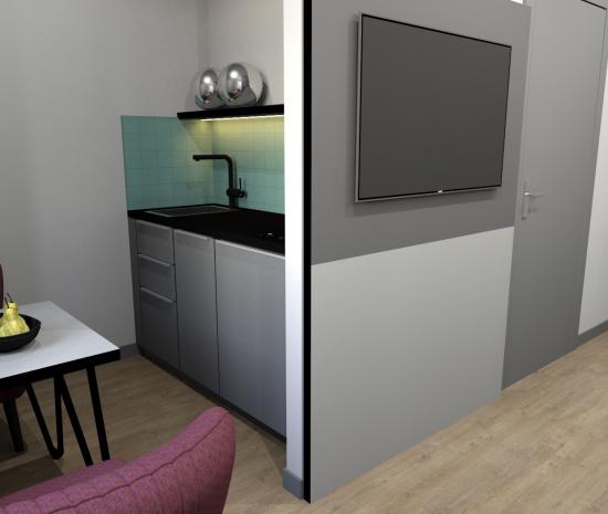 New Studios with  Kitchen & Bathroom