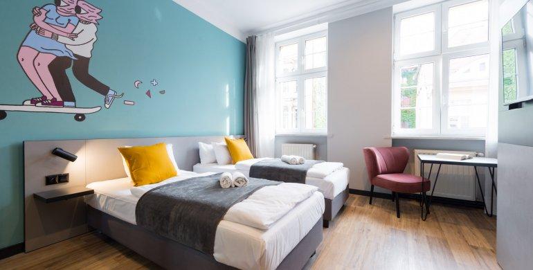 Pokój 2 os. - Standard  z dwoma pojedynczymi łóżkami