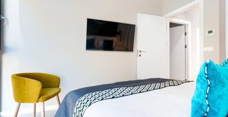 Apartament B018 z dwiema sypialniami z wyjściem na patio