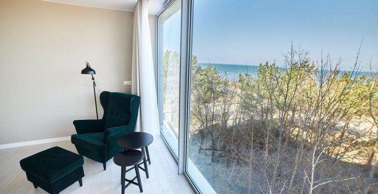 Apartament B307 z dwiema sypialniami (częściowy widok na morze)