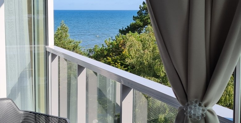 Apartament B419 z jedną sypialnią (boczny widok na morze)