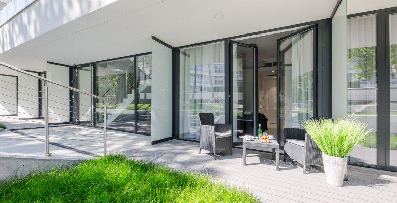 Apartament Studio B022 z wyjściem na ogród