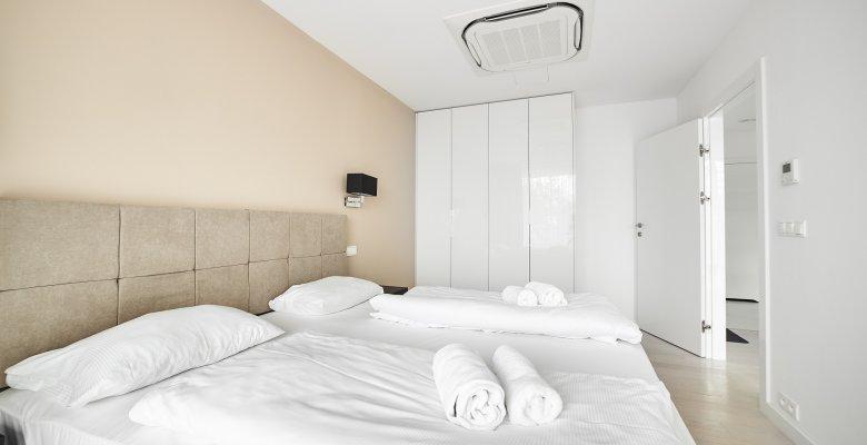 Apartament B216 z dwiema sypialniami z widokiem na morze i wydmy
