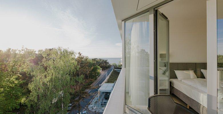 Apartament C413 z jedną sypialnią (boczny widok na morze)