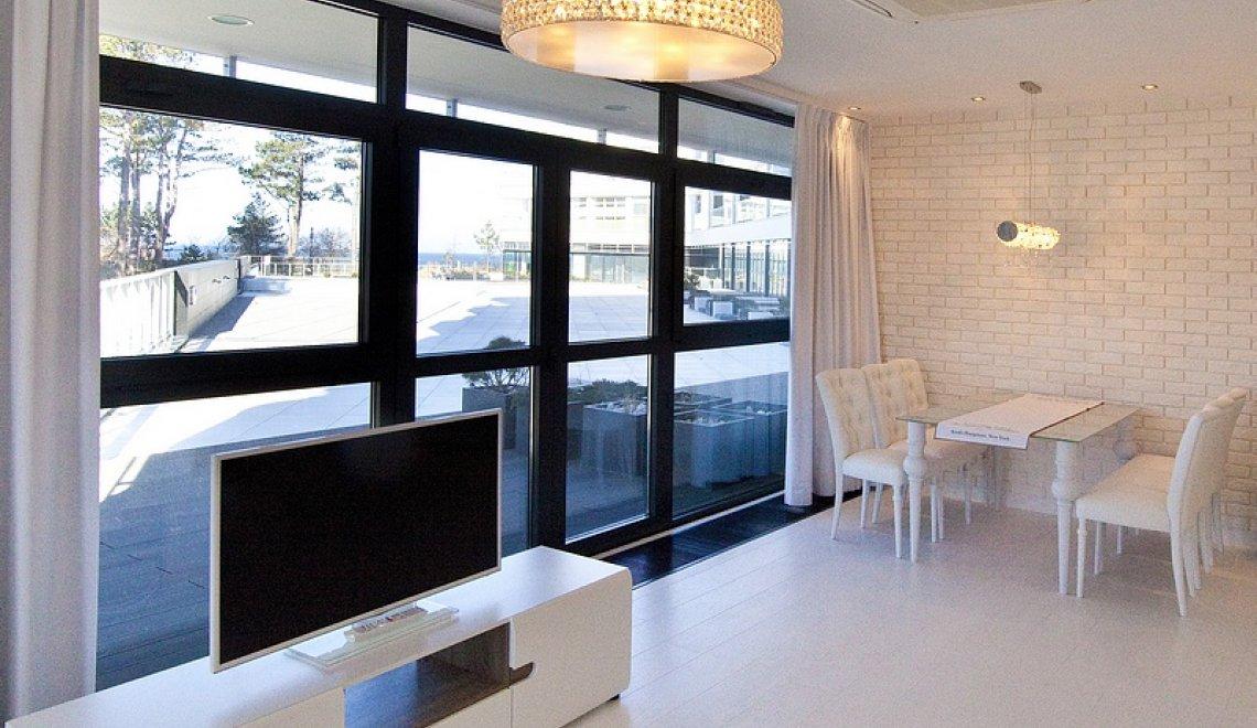 Apartament 1.15 A z częściowym widokiem na morze