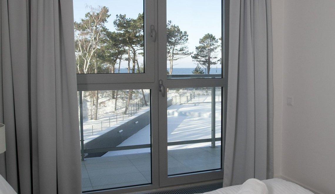 Apartament z 2 sypialniami 2.13 A z widokiem na morze