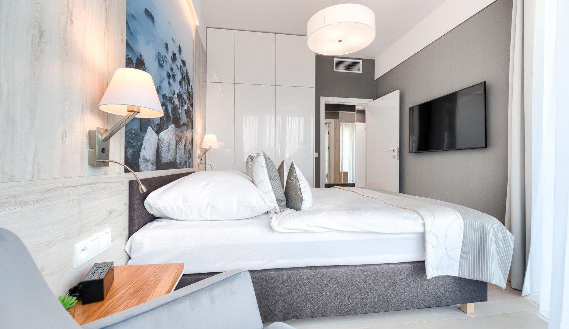 Apartament Deluxe z 1 sypialnią 3.11 C z bocznym widokiem na morze