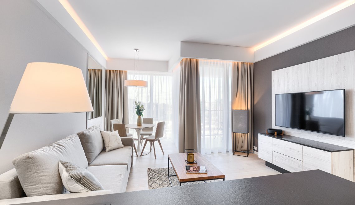 Apartament Deluxe z 1 sypialnią 4.11 C z widokiem na morze