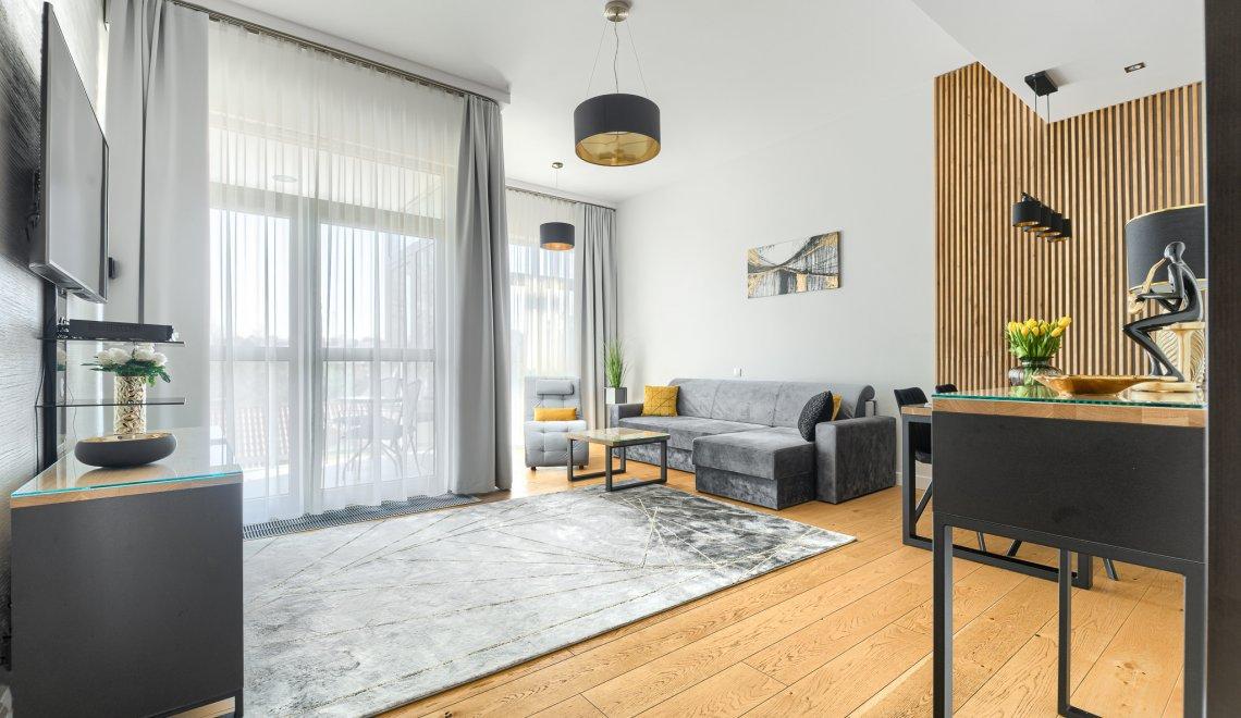 Apartament z 1 sypialnią 2.05 A z częściowym widokiem na morze