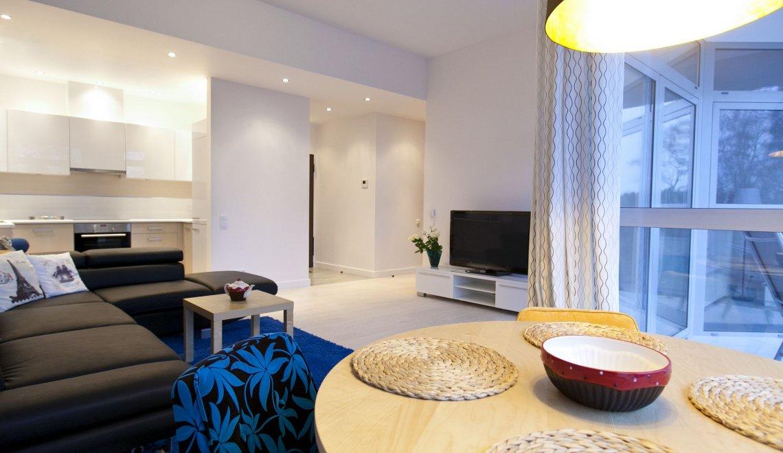 Apartament z 1 sypialnią 2.03 A z bocznym widokiem na morze