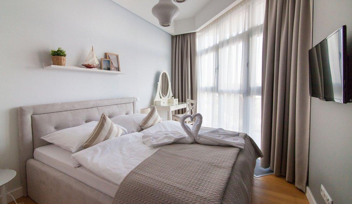 Apartament z 1 sypialnią 4.08 A z bocznym widokiem na morze