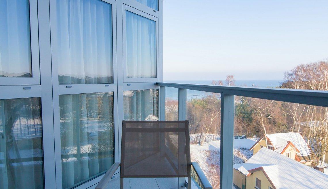 Apartament 4.08 A z bocznym widokiem na morze