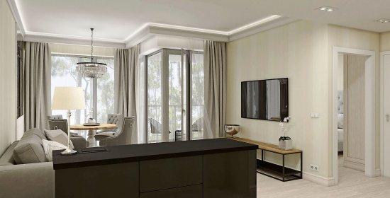 Apartament Deluxe z 1 sypialnią 4.12 C z widokiem na morze