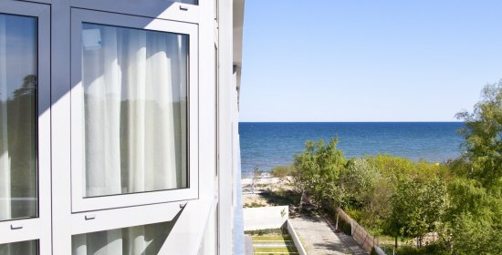 One-bedroom apartment 3.09 A with partial sea view