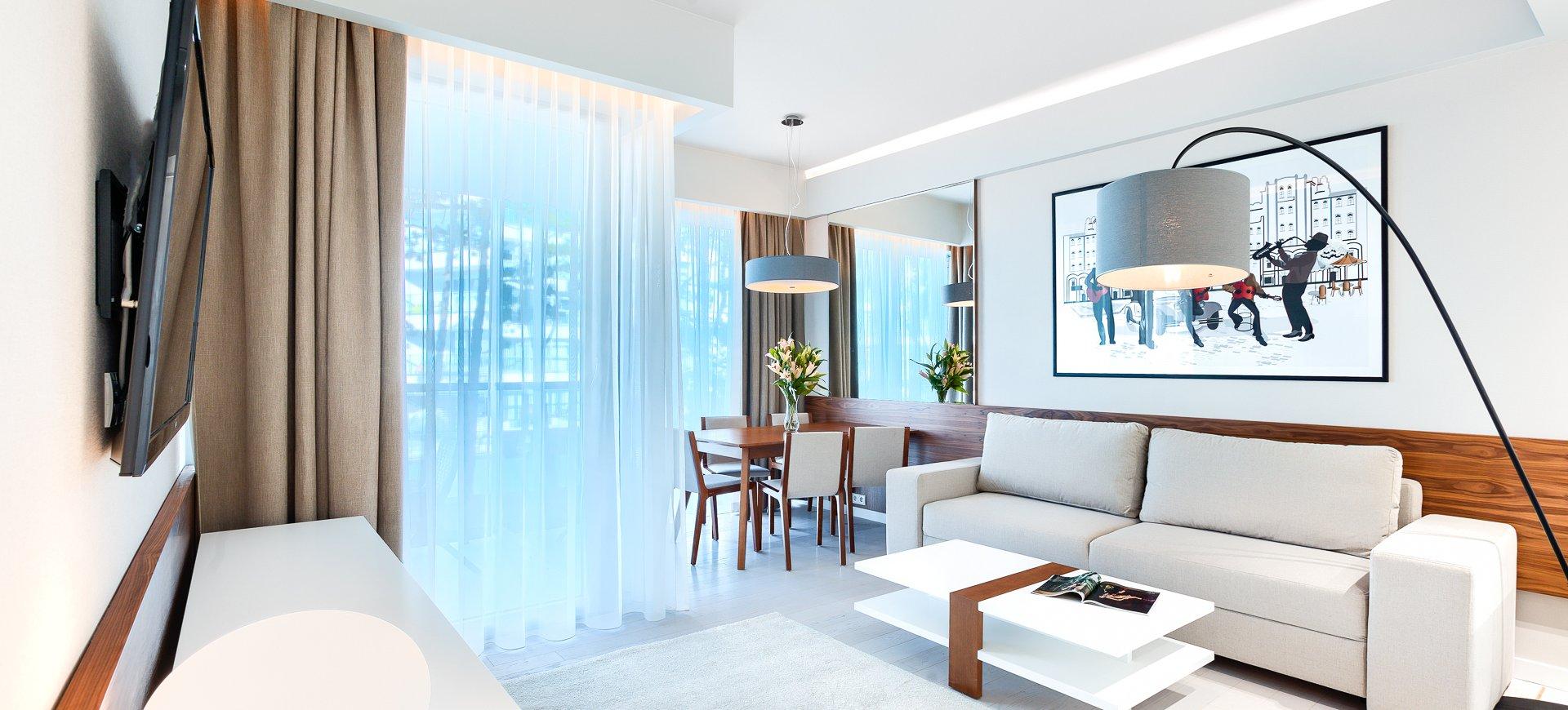 Apartament Deluxe z 1 sypialnią 2.19 B z bocznym widokiem na morze