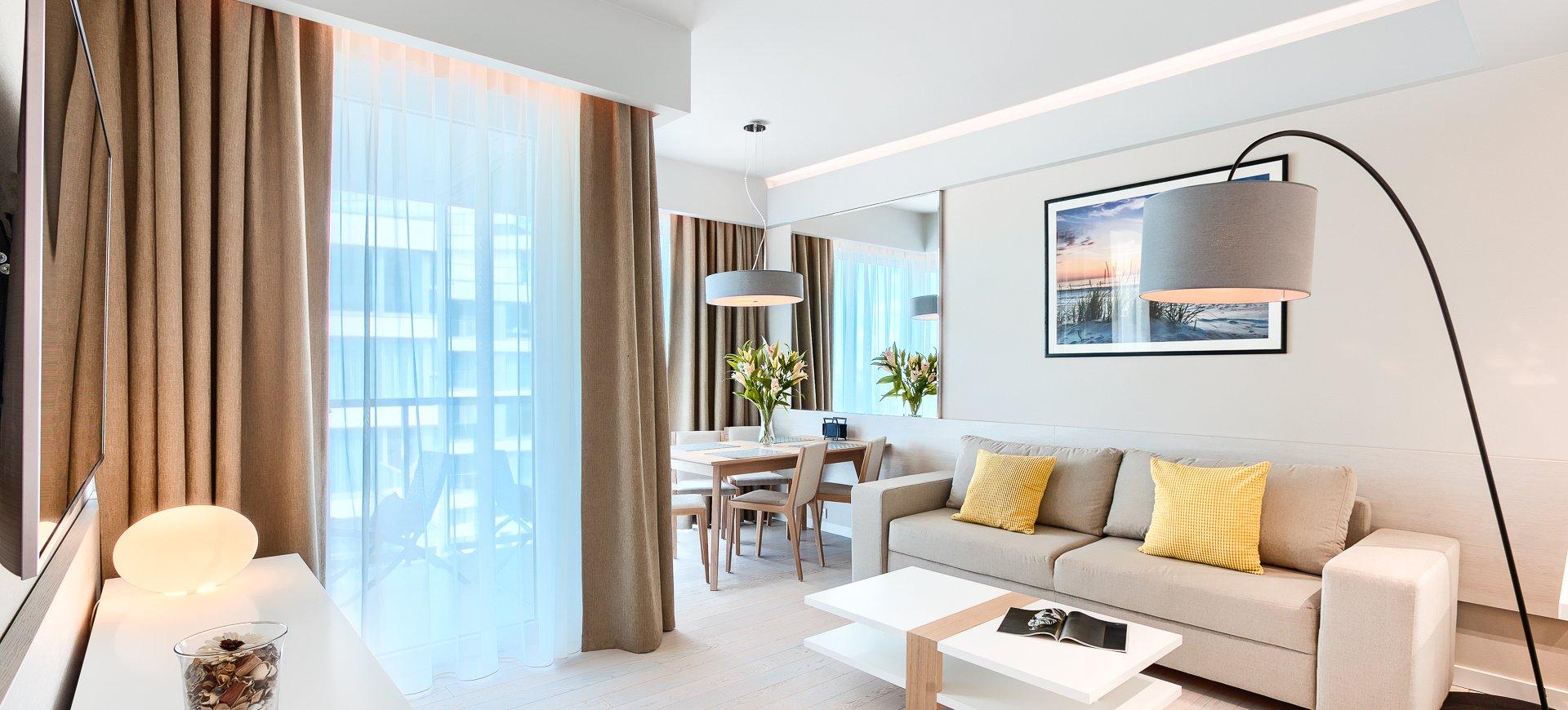 Apartament Deluxe z 1 sypialnią 3.08 B z bocznym widokiem na morze
