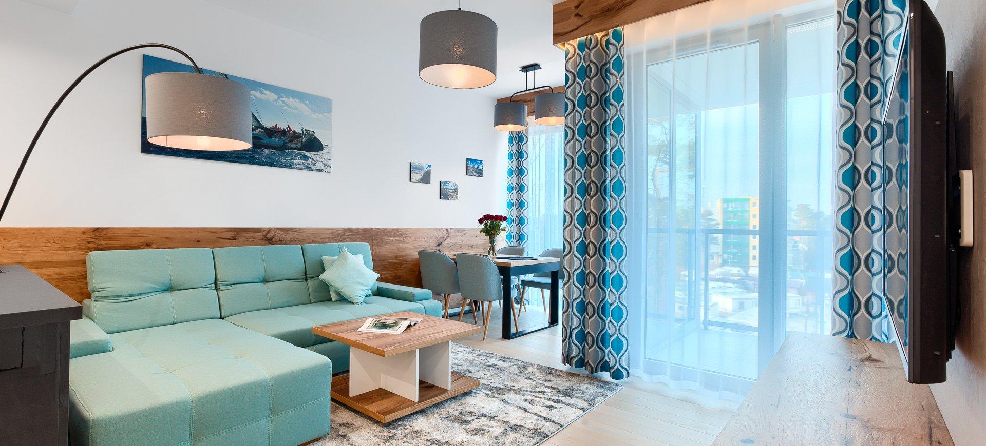 Apartament Deluxe z 1 sypialnią 3.13 C z bocznym widokiem na morze