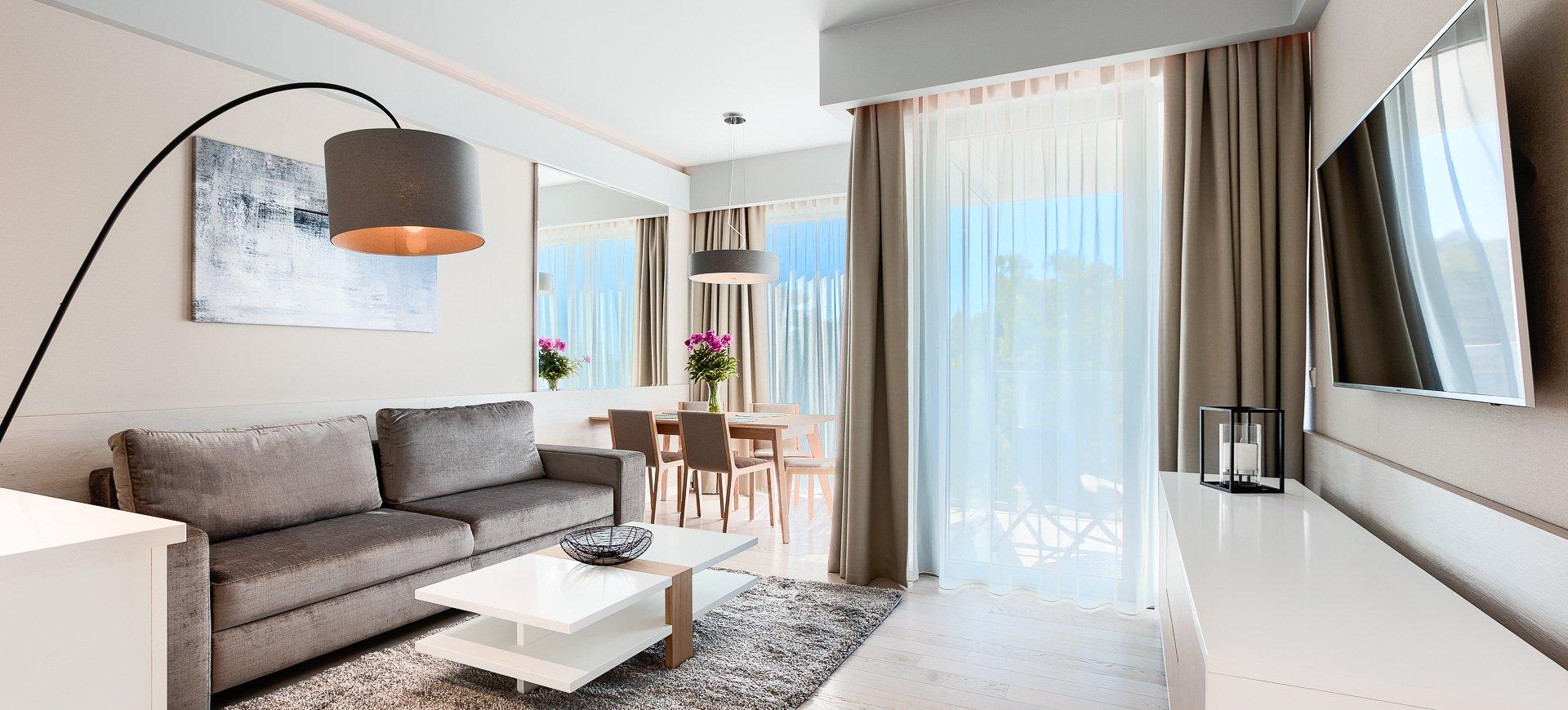 Apartament Deluxe z 1 sypialnią 3.04 B z widokiem na morze