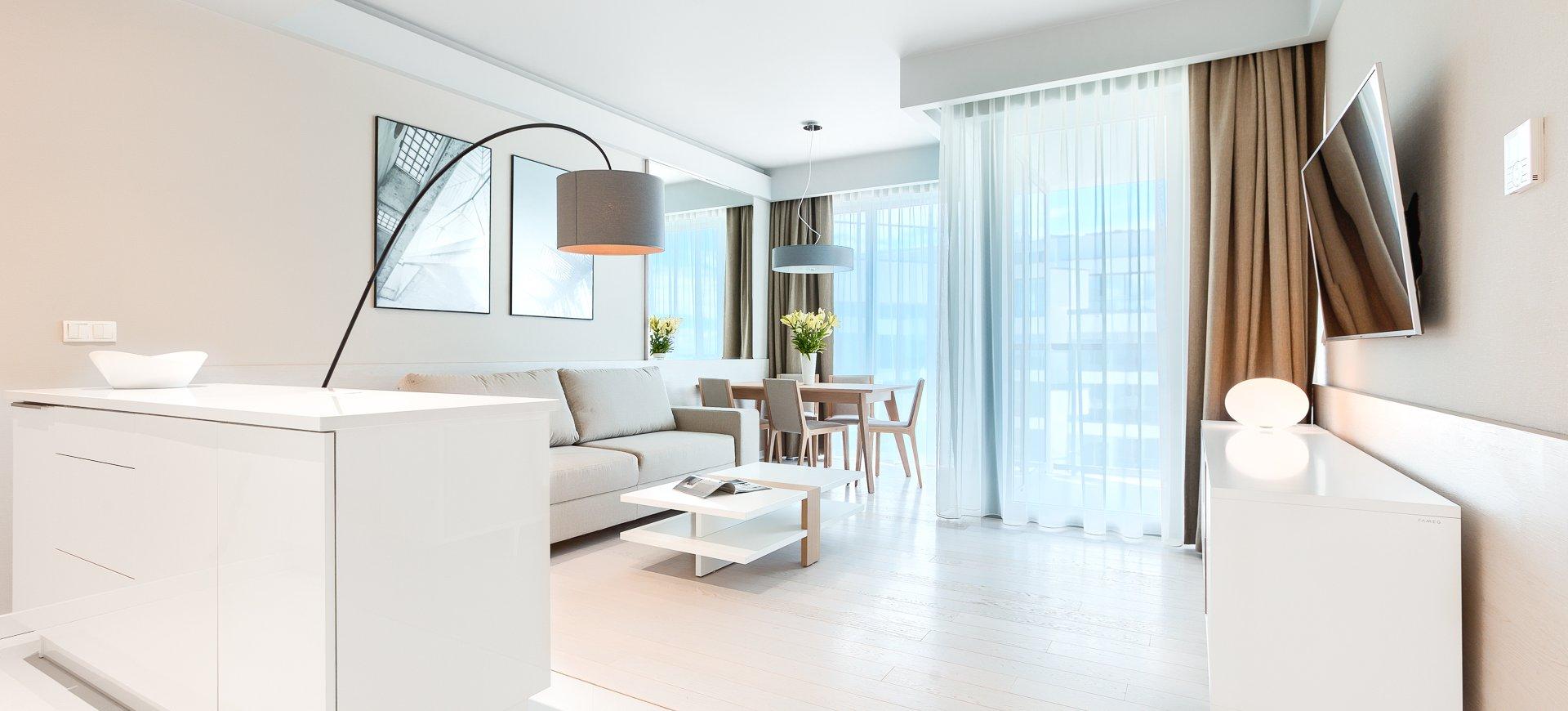 Apartament Deluxe z 1 sypialnią 4.13 B z widokiem na morze