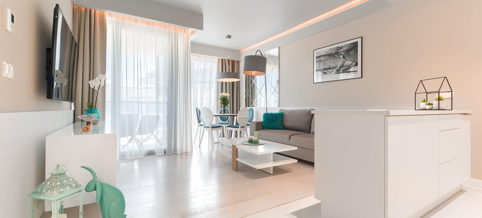 Apartament Deluxe z 1 sypialnią 4.08 B z widokiem na morze