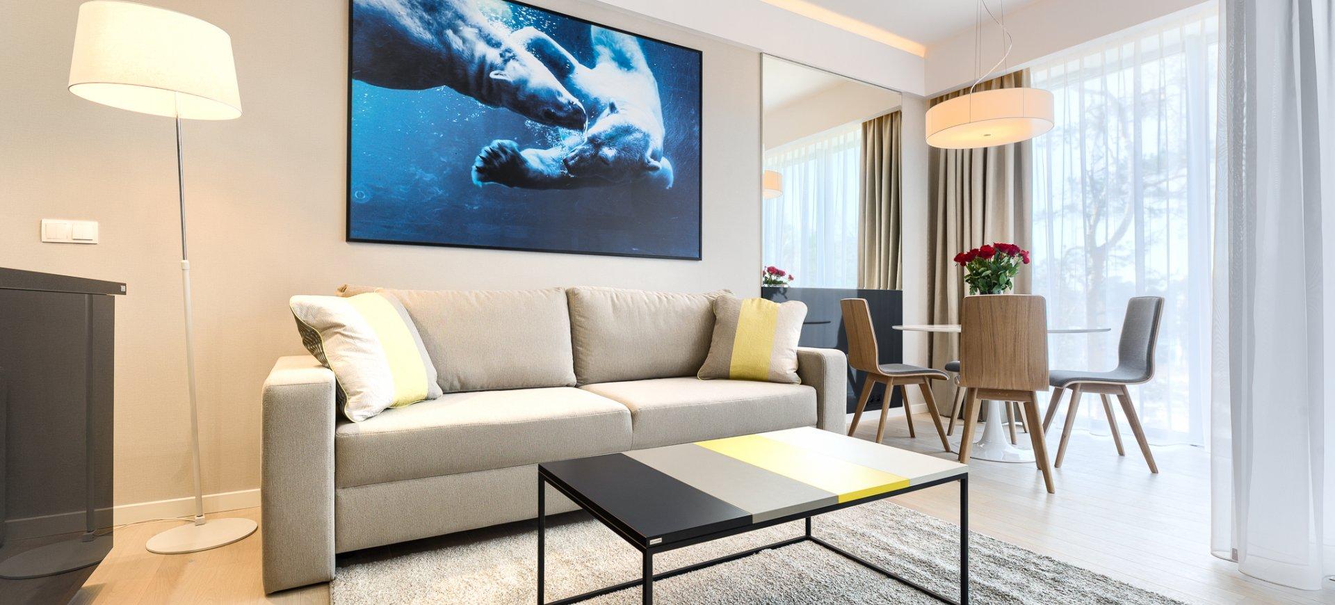 Apartament Deluxe z 1 sypialnią 3.14 C z bocznym widokiem na morze