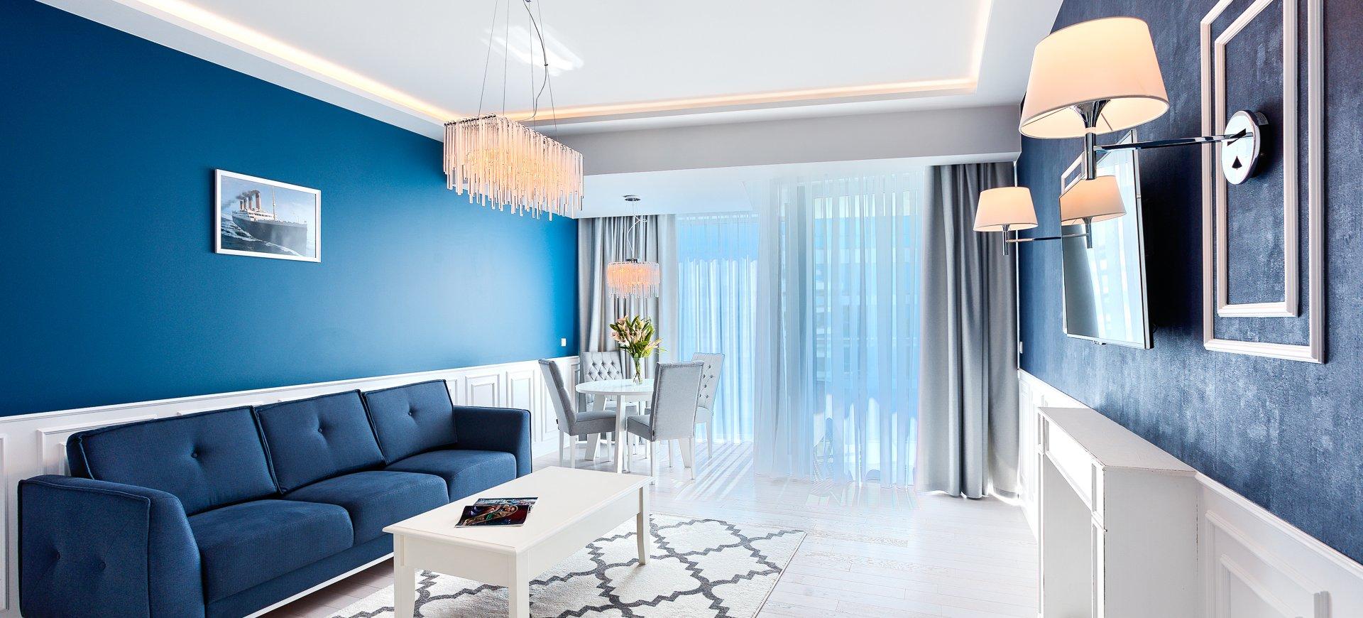 Apartament GRAND z 1 sypialnią 3.15 B z bocznym widokiem na morze