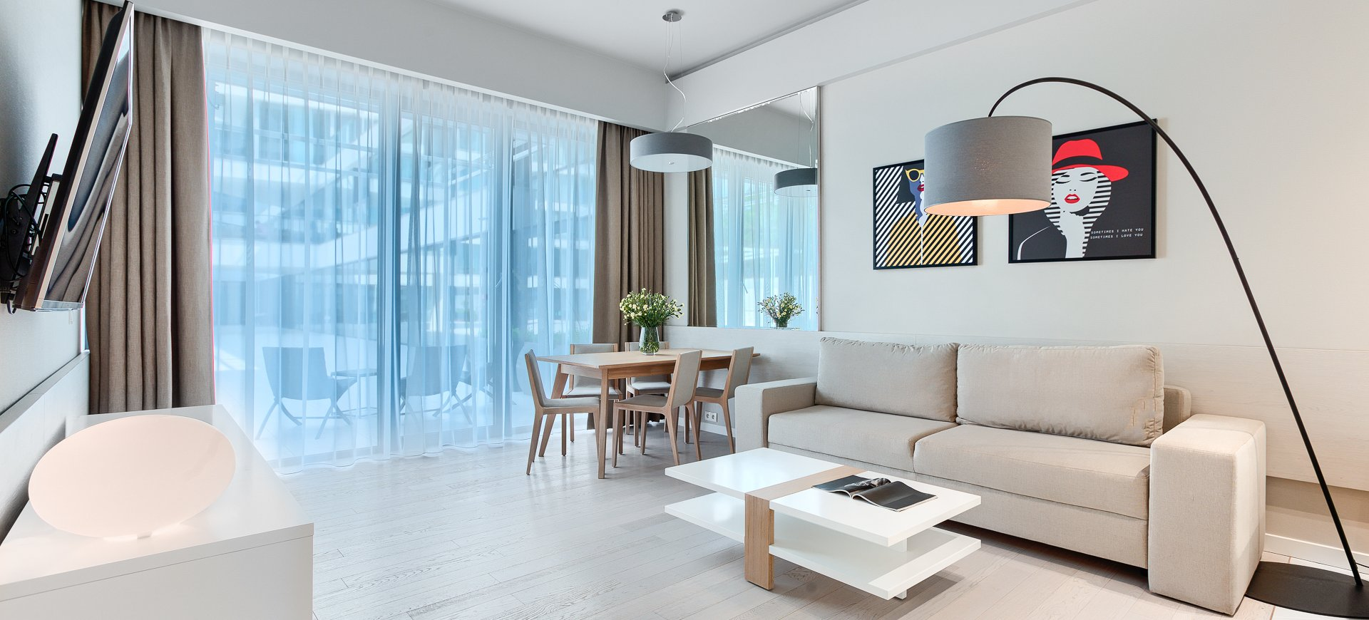 Apartament Deluxe z 1 sypialnią 0.12 B z wyjściem na dziedziniec