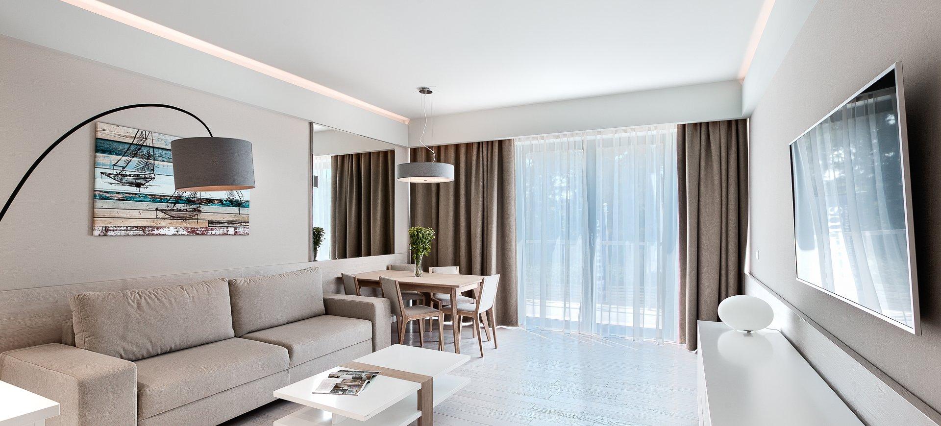 Apartament Deluxe z 1 sypialnią 1.03 B z dużym tarasem